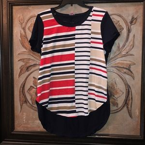 Vince Camuto Pin striped blouse
